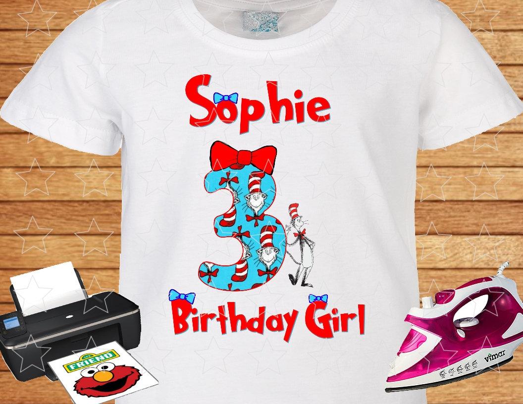 Birthday Girl Dr Seuss Iron On Transfer Dr Seuss Shirt Clipart Png