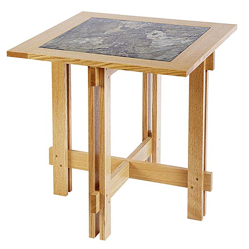 tile top accent table woodworking plan