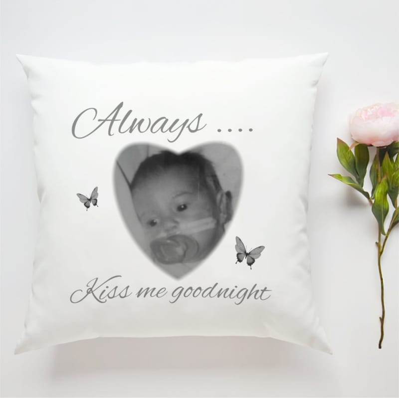 personalised cushion always kiss me goodnight