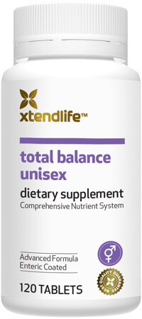 Total Balance Unisex - A comprehensive supplement containing 88 bio-active vitamins, minerals, nutrients, antioxidants and herbs to help support optimal health, immunity and wellbeing.