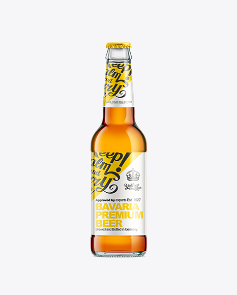 Download Beer Bottle Mockup Free Yellowimages