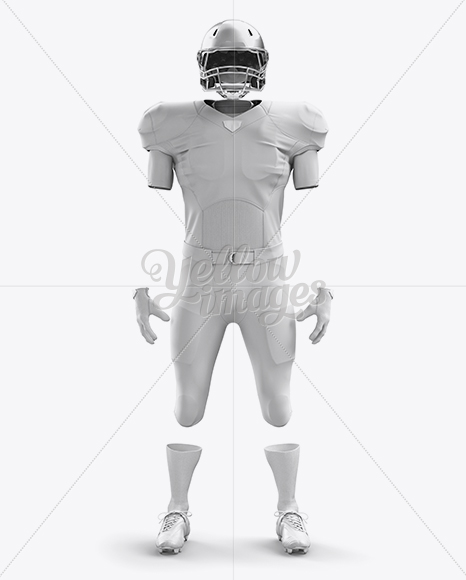 Download American Football Kit Mockup - Front View in Apparel ...
