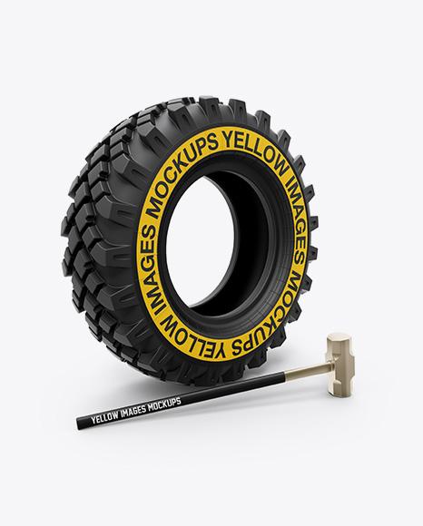 Crossfit Tire & Hammer Mockup