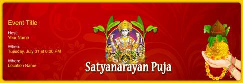 Online Satyanarayan Puja Invitation
