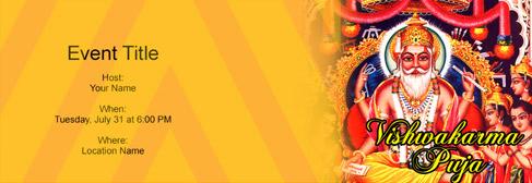 Online Vishwakarma Puja Invitation