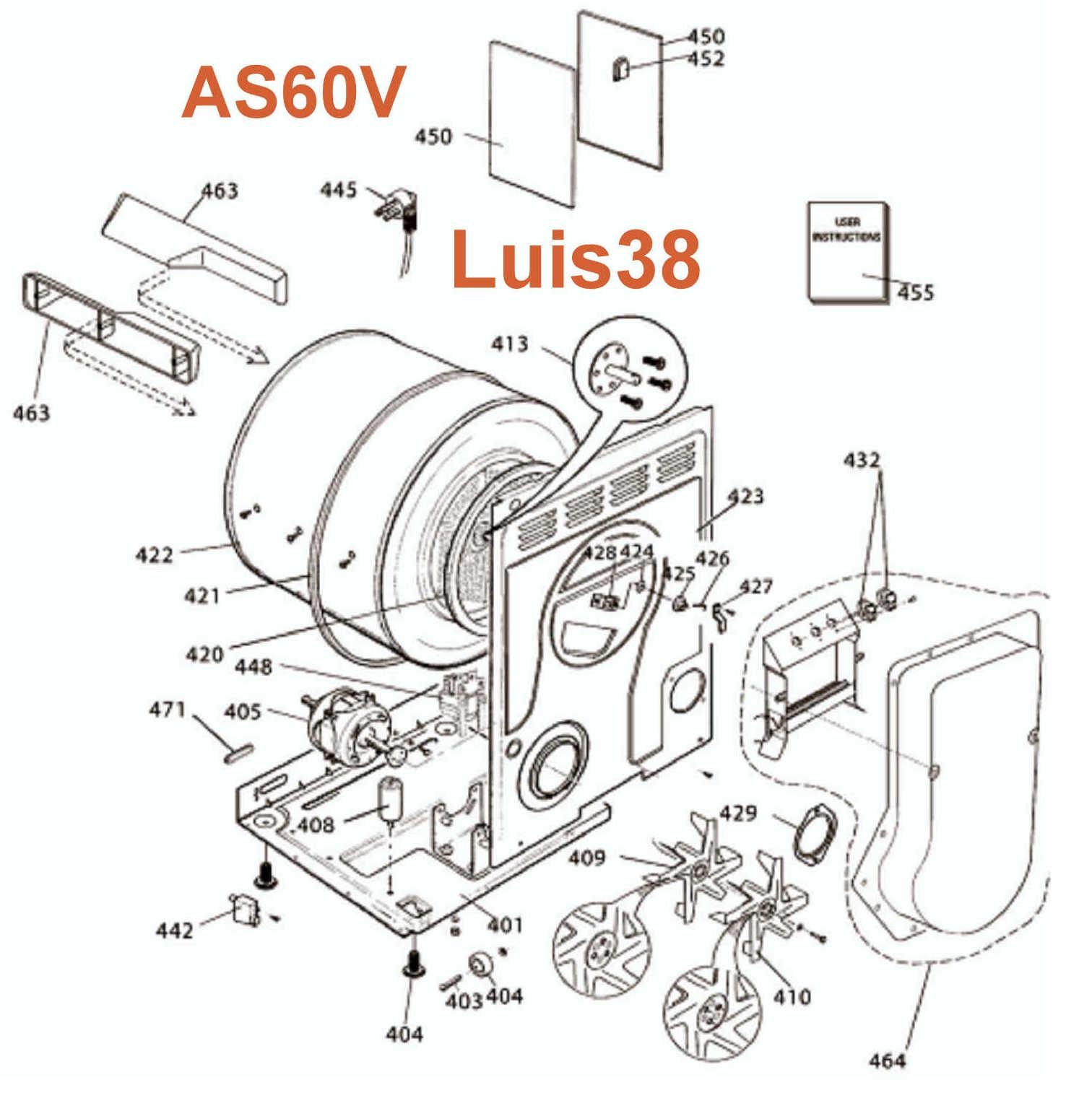 Solucionado Diagrama Despiece Eje Secadora Ariston As 60v