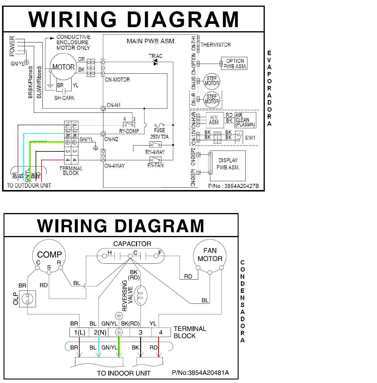 Diagrama De Minisplit Lg Airea Condicionado