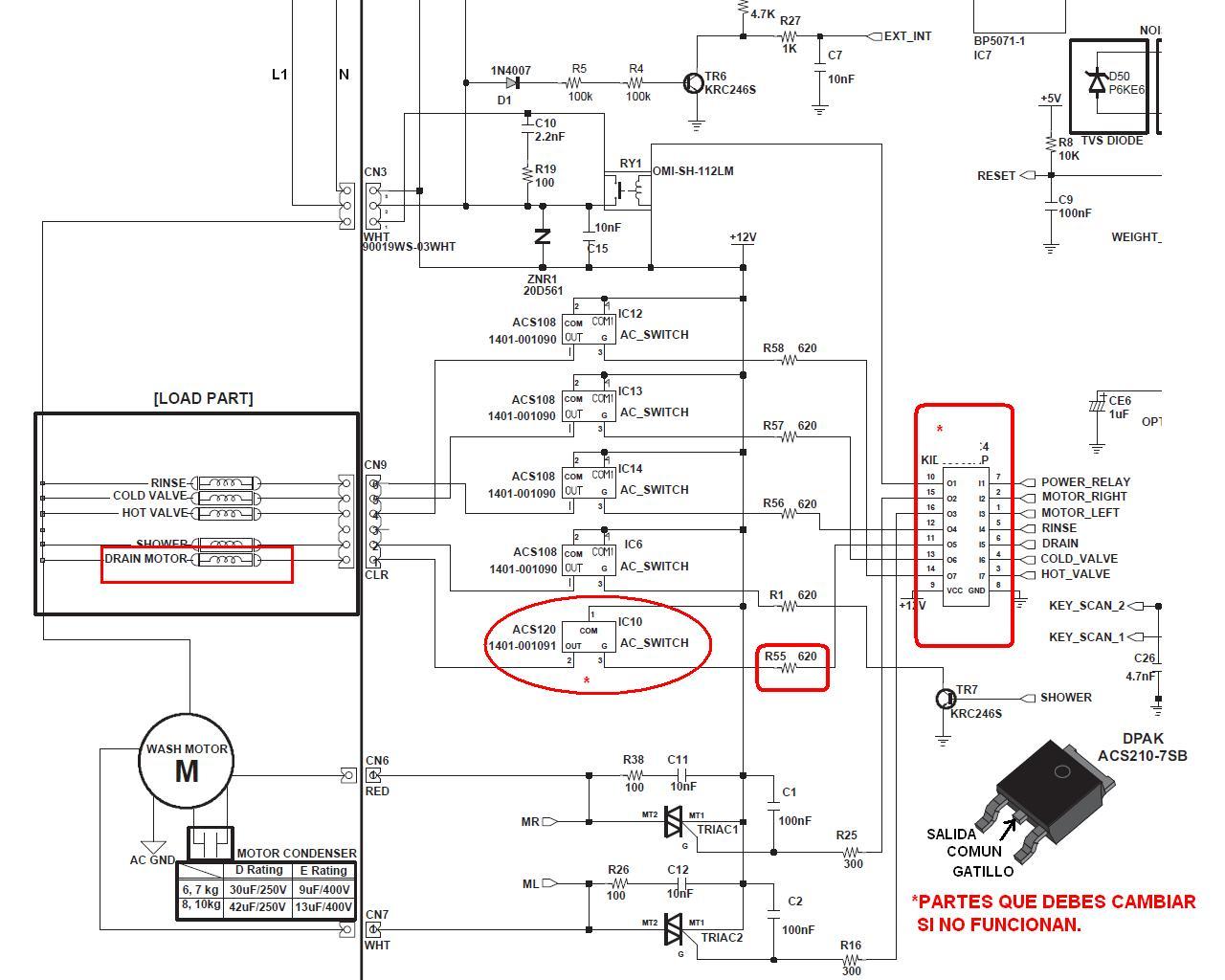 Solucionado Busco El Diagrama Electrico De La Secadora De