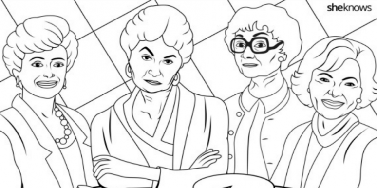 this 39 golden girls 39 coloring book page gives us life yourtango