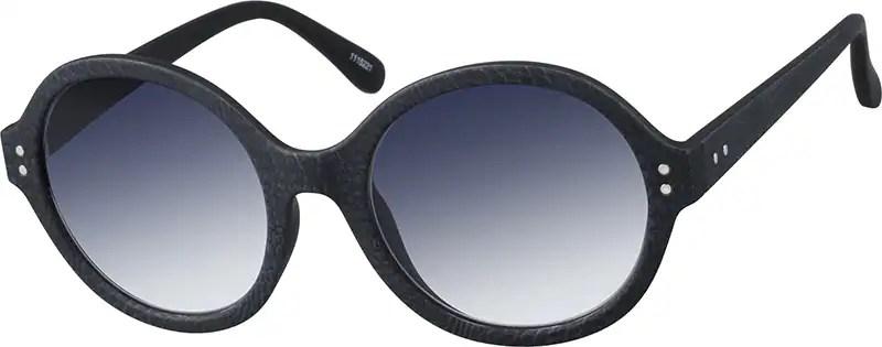 Black Laurel Round Sunglasses 11152 Zenni Optical