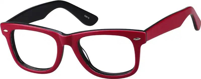 Dark Red / Maroon Bold Wayfarer Eyeglasses 638718 $29.95