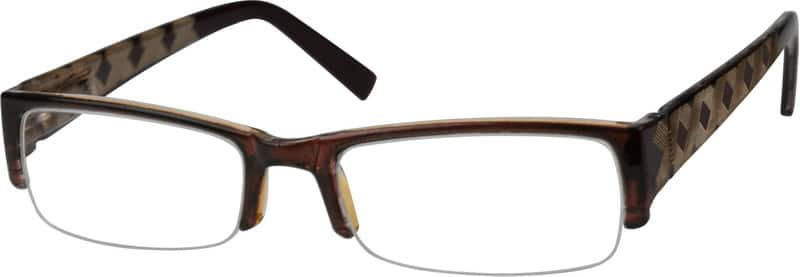 Brown Half Rim Plastic Anti Reflective Coating Optical Quality Reading Glasses A22362 Zenni