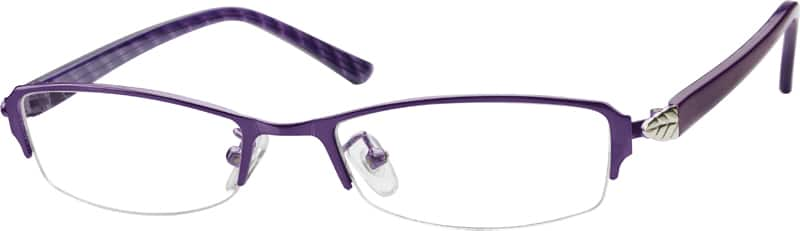 Stainless Steel Half-Rim Frame (737717) which I had bought from Zenni Optical