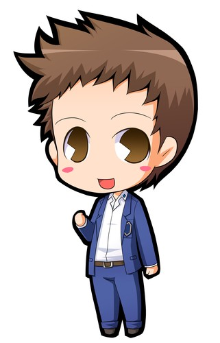 anime boy chibi template