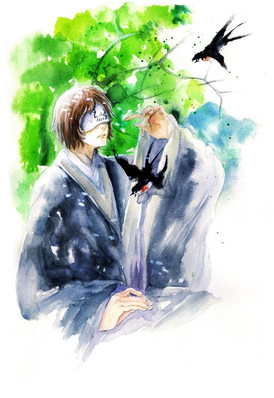 Tags: Anime, Natsume Yuujinchou, Tanuma Kaname, Tsubame (Natsume Yuujinchou), Mobile Wallpaper