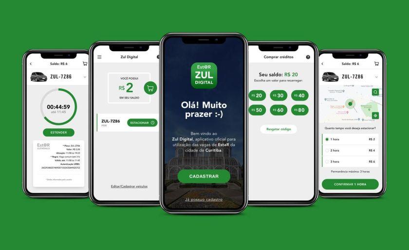 aplicativo oficial Zul estar digital curitiba credenciado pela urbs