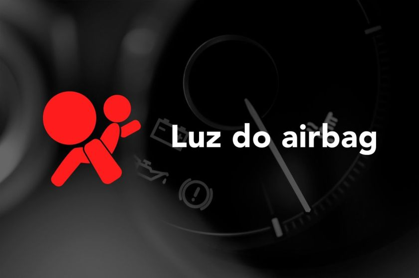 Luz do airbag painel do carro