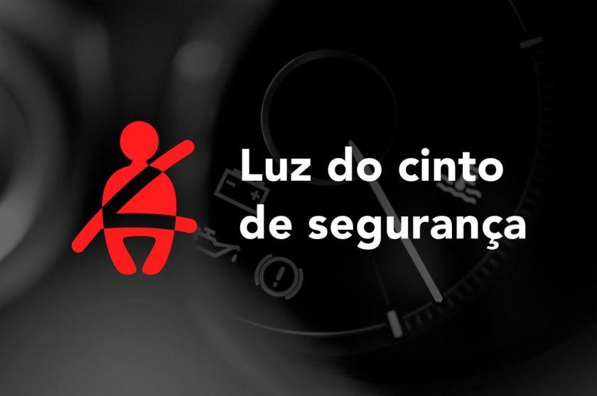 Luz do cinto de segurança painel do carro