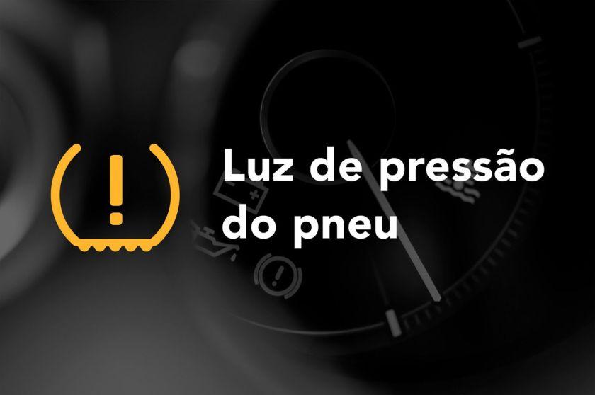 Luz de pressão do pneu painel do carro