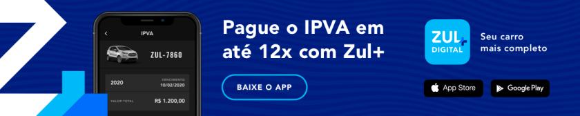 tela do app Zul+ de pagamento de ipva