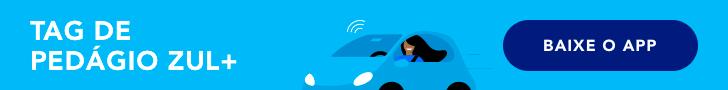 banner carro com tag de pedagio zul digital