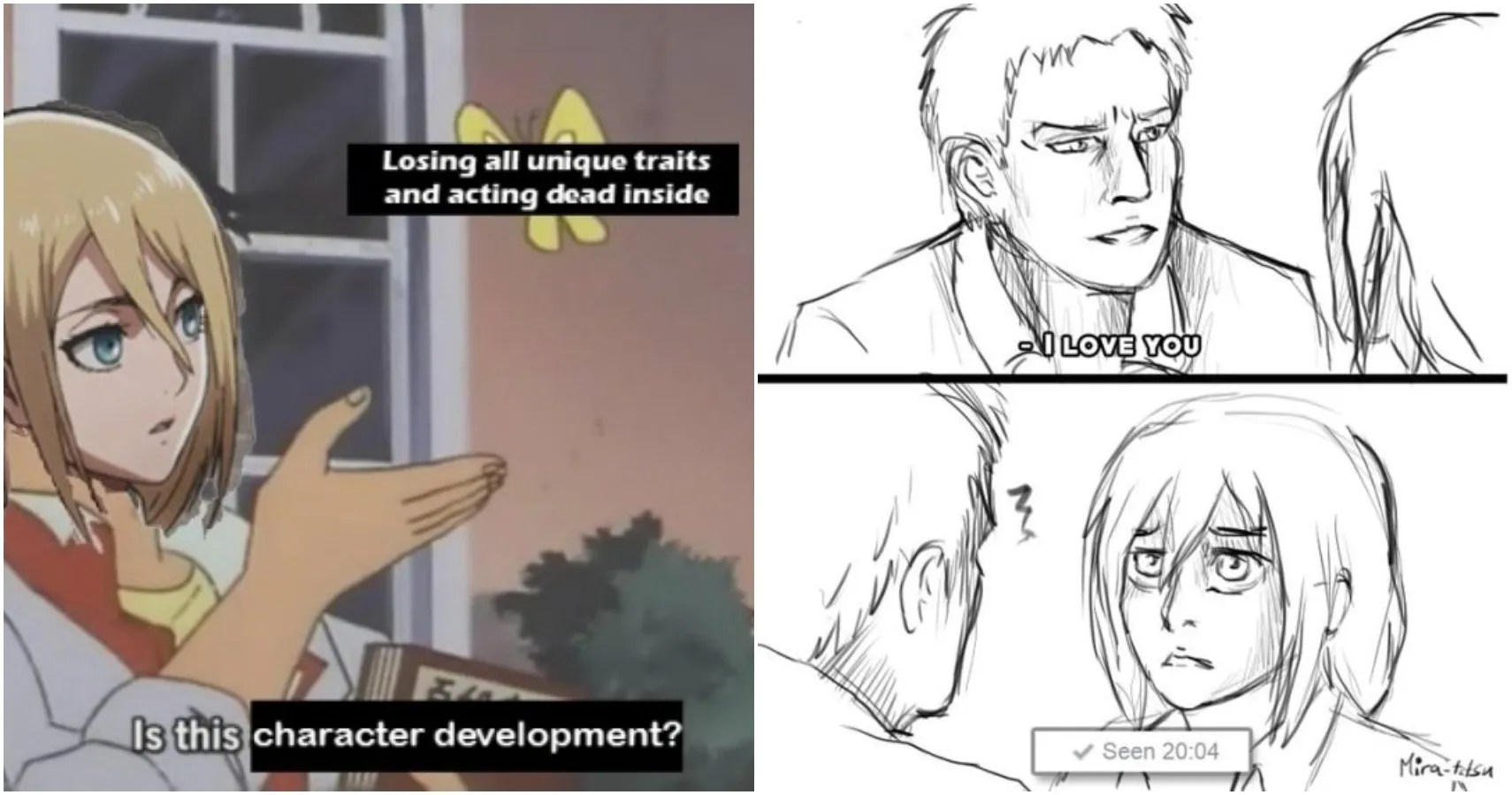 25 Best Memes About Eren Mikasa Eren Mikasa Memes