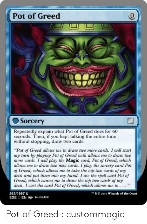 What Does Pot Of Greed Do 10 More Hilarious Yu Gi Oh Memes Only