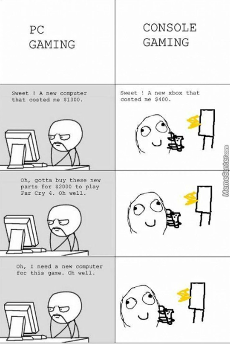 10 Console Vs Pc Memes That Are Too Funny For Words Game Rant