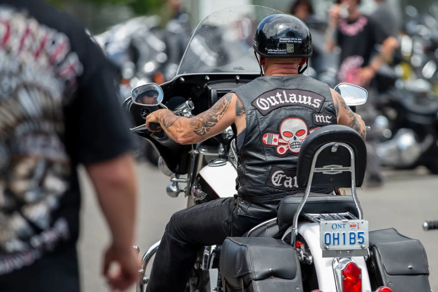 Outlaws Motorcycle Club rider back vest