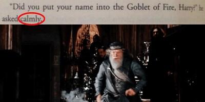dumbledore yells bro