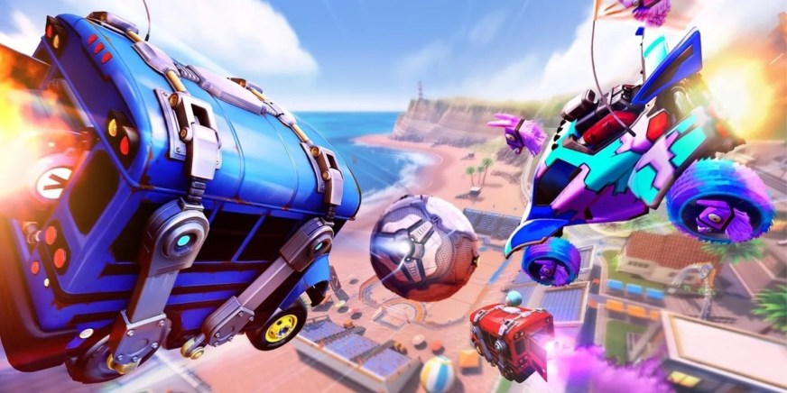 Rocket League Fortnite Battle Bus Added In Llama-Rama Event