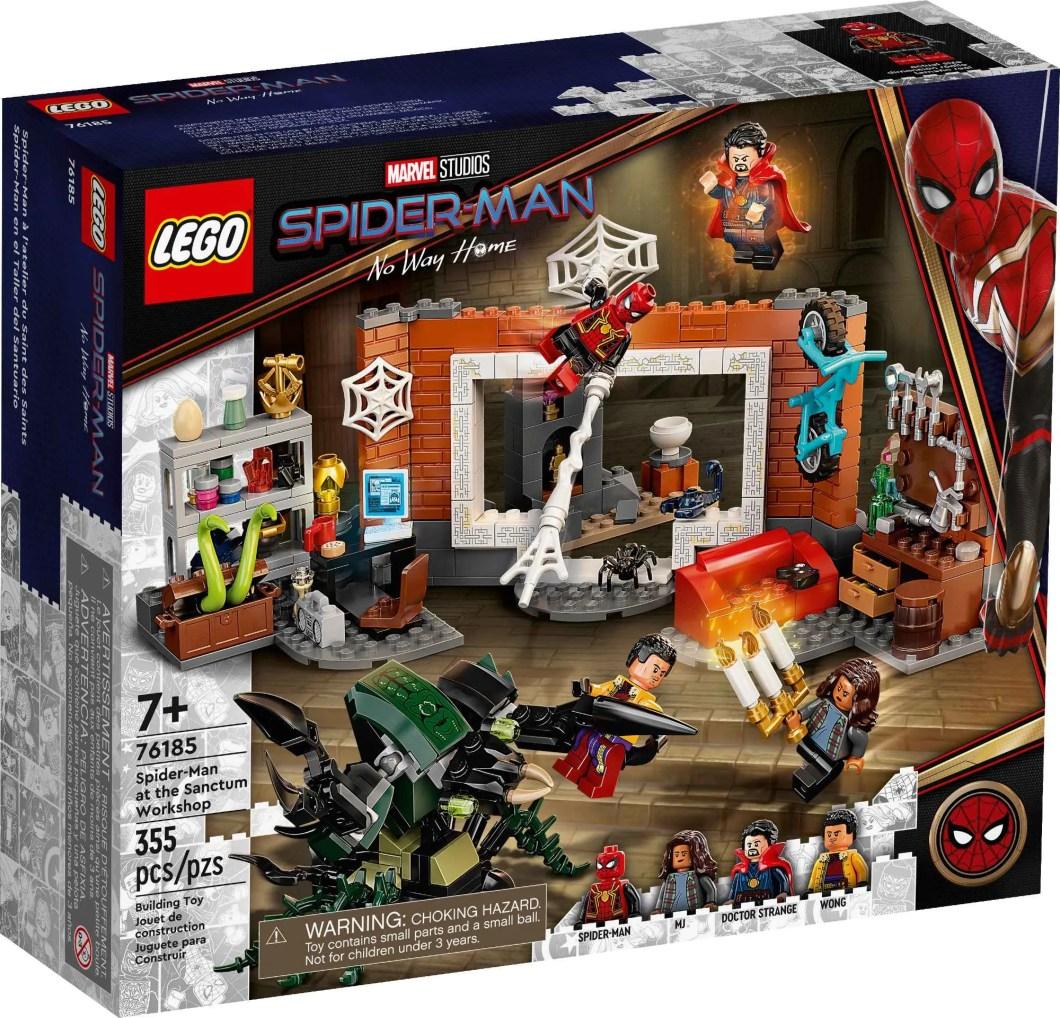 Spider Man No Way Home LEGO Set Sanctum Workshop Front
