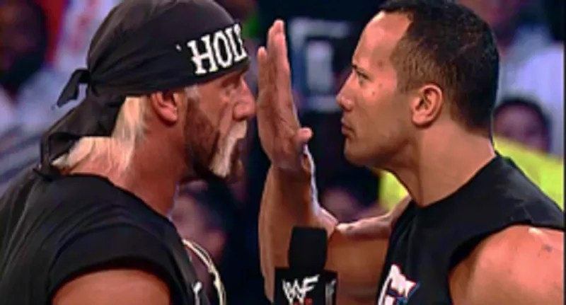 Image result for the rock and hulk hogan