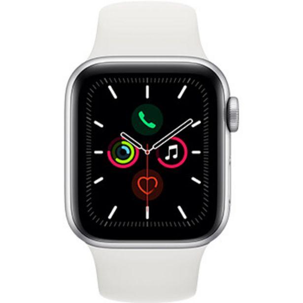 apple watch series 5 4g 40 mm aluminium argent avec bracelet sport blanc
