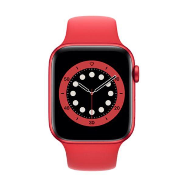 apple watch series 6 4g 44 mm aluminium rouge avec bracelet sport rouge