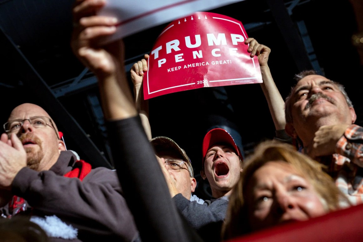 Supporters of Mr. Trump at the rally in Battle Creek, Mich.