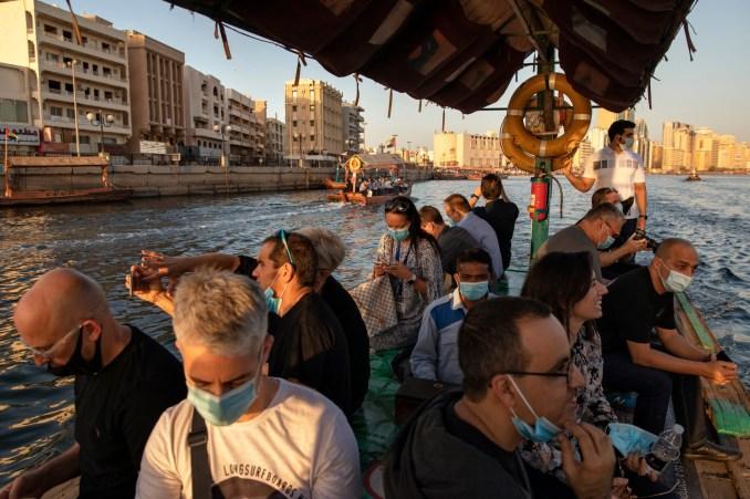 Israeli journalists and entrepreneurs in Dubai.