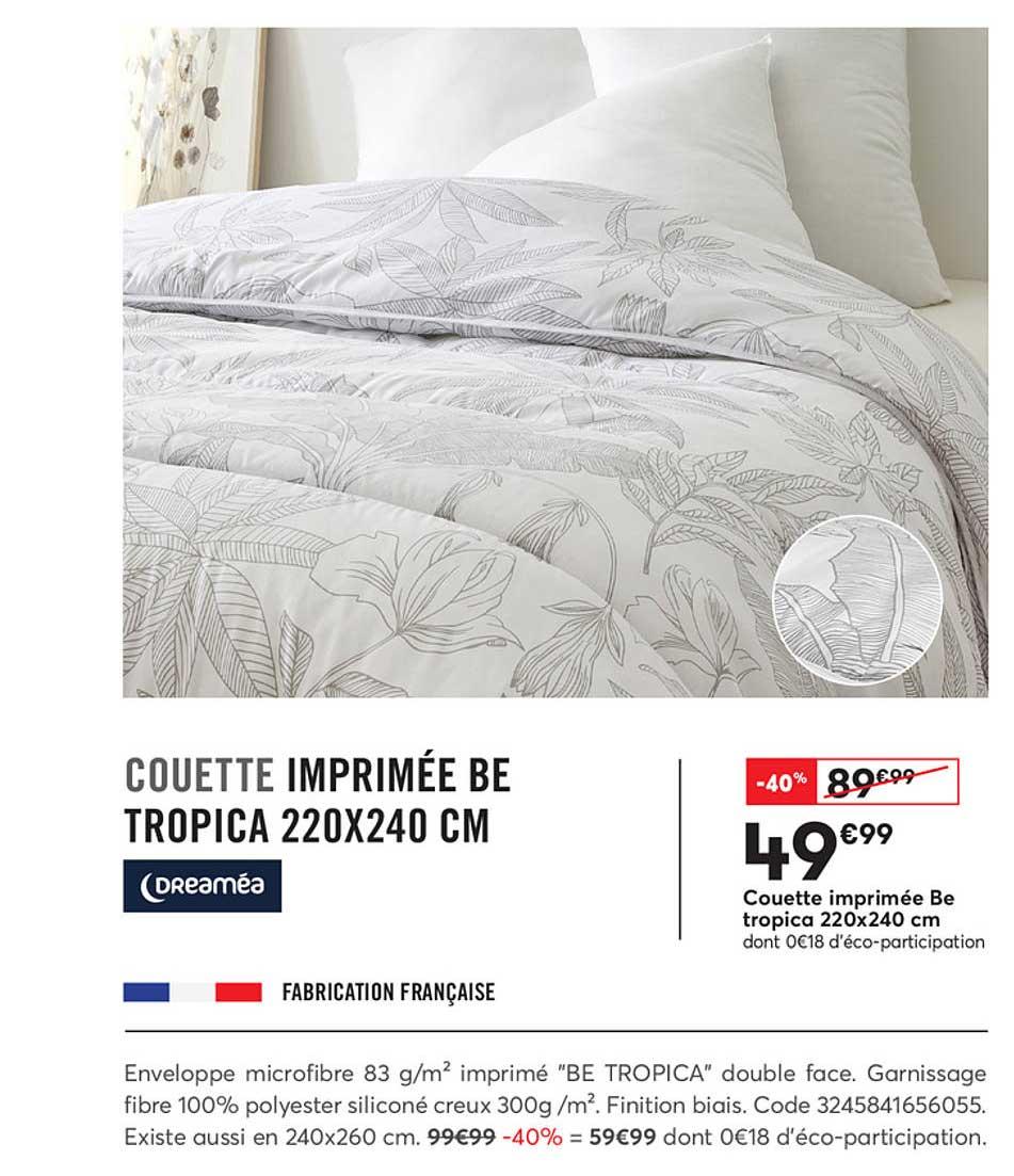Offre Couette Imprimee Tex Chez Carrefour Market