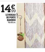 Offre Le Rideau De Porte Bambou Chez Centrakor