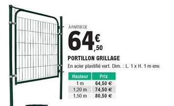 Offre Portillon Grillage Chez Eleclerc Brico