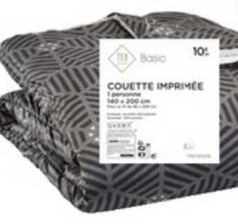 Offre Couette Imprimee Basic Tex Chez Carrefour