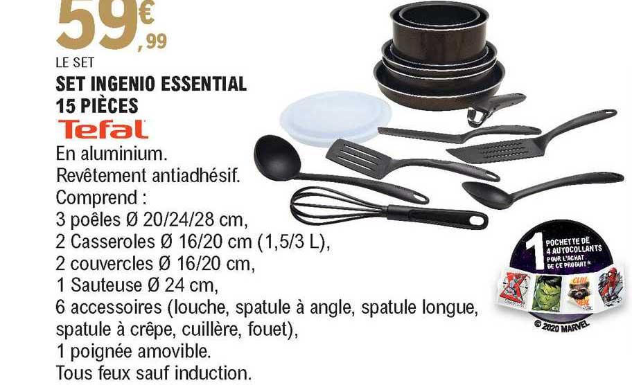 offre set ingenio essential 15 pieces