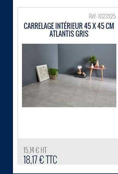 45x45cm atlantis gris chez bricoman