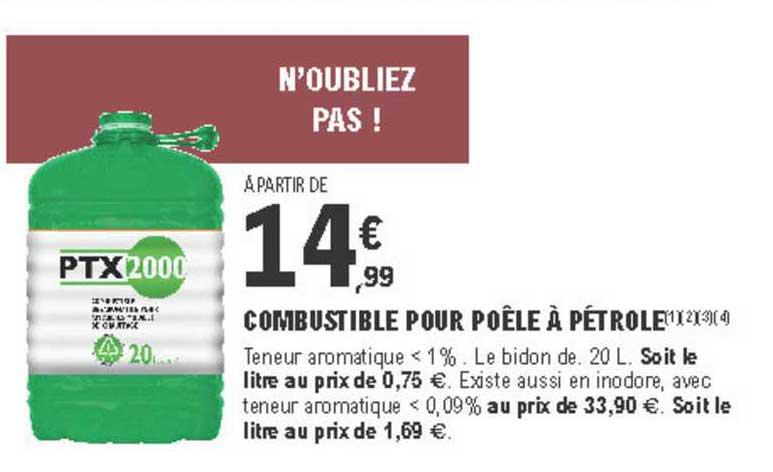 offre combustible pour poele a petrole