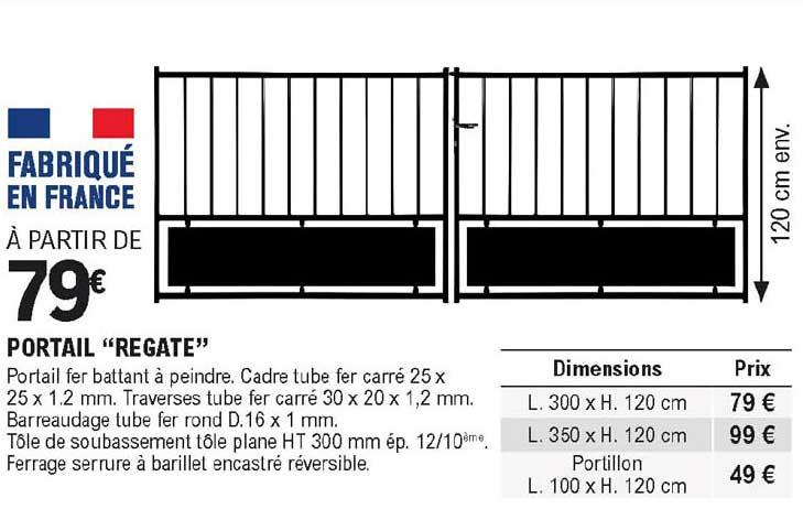 Offre Portail Regate Chez Eleclerc Brico