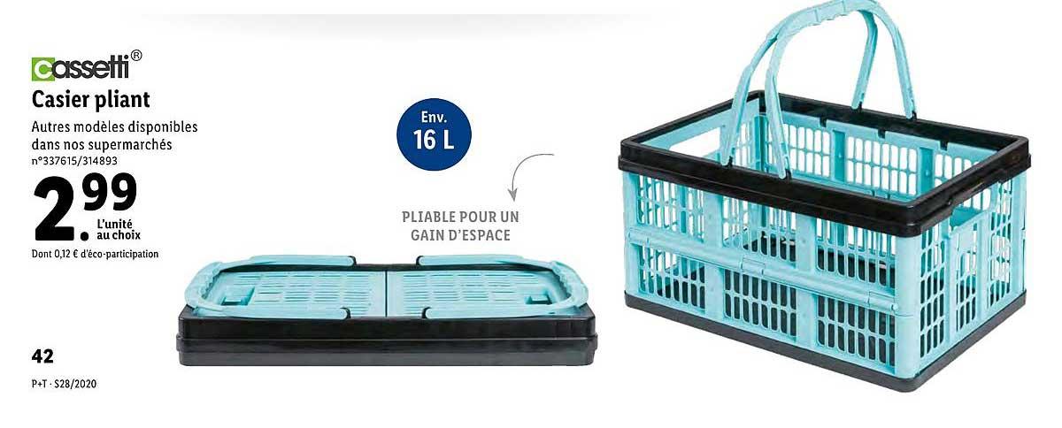 Offre Casier Pliant Cassetti Chez Lidl