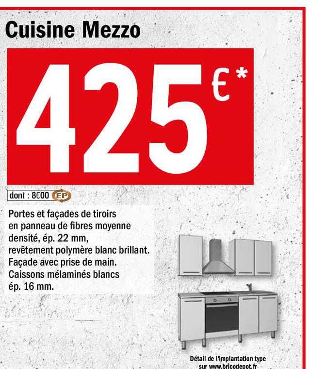 offre cuisine mezzo chez brico depot