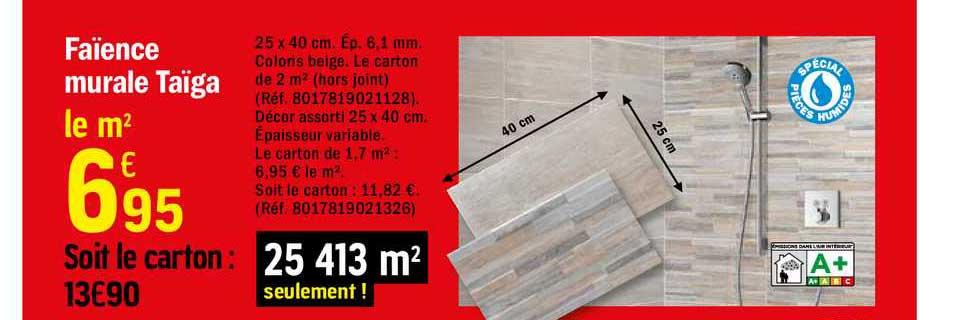 Offre Faience Murale Taiga Chez Brico Depot