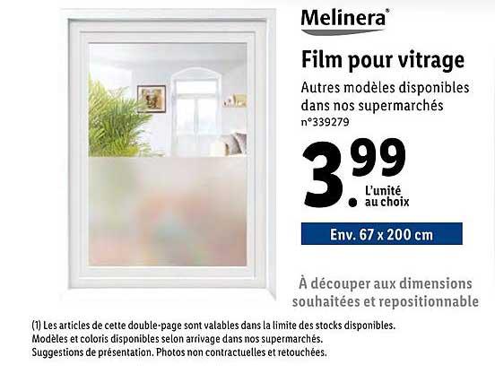 Offre Film Pour Vitrage Melinera Chez Lidl