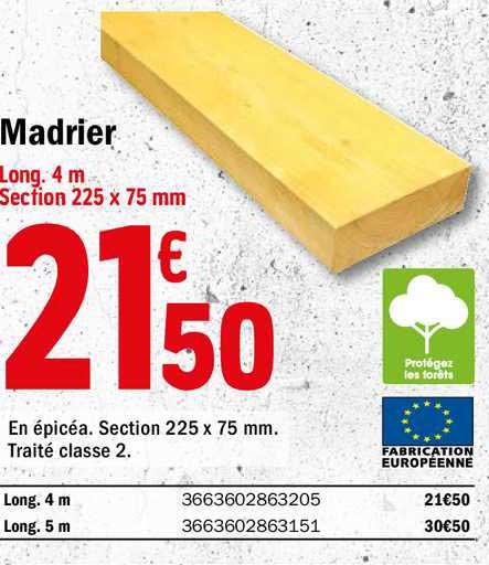 Offre Madrier Chez Brico Depot